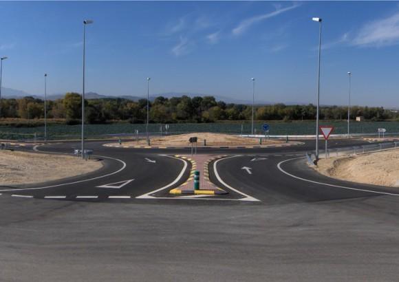 Nueva Glorieta en la N-115, para el acceso al Polígono Bodega Romana en Funes, (Navarra)