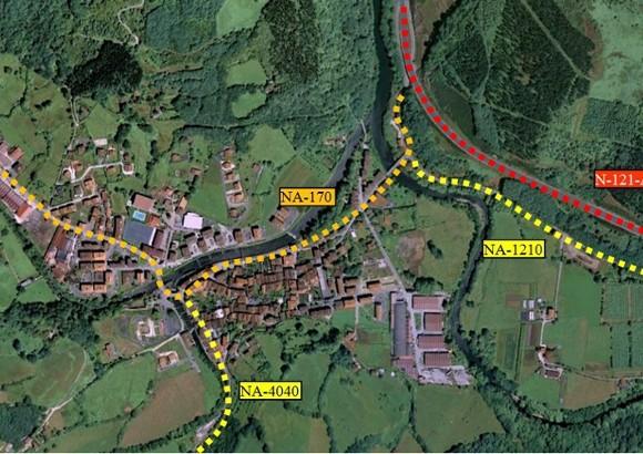 Estudio de Movilidad para determinar la afección del nuevo Plan Municipal de Santesteban en la red viaria existente