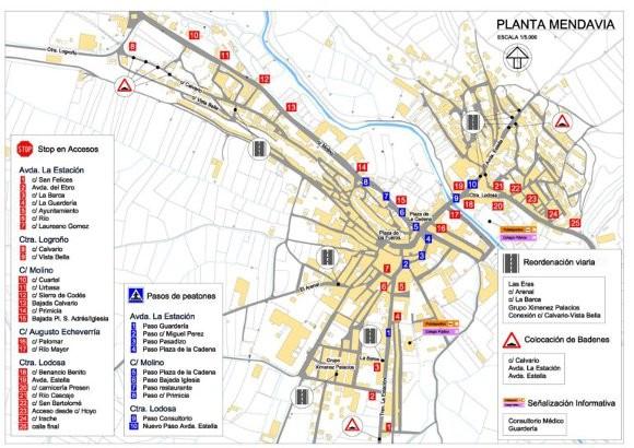 Plan integral de movilidad y de tráfico, en Mendavia – Actuaciones a realizar